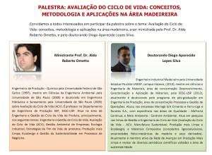 Folder divulgação palestra ALDO-DIOGO Avaliação do Ciclo de Vida de Produtos Madeireiros